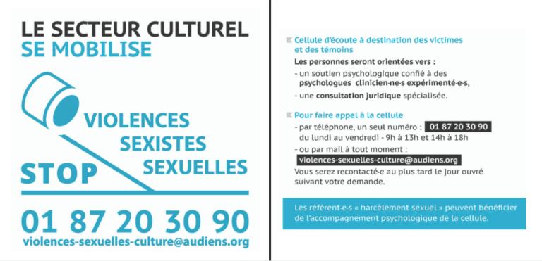 Read more about the article Viol / Harcèlement sexuel / Violences sexistes sexuelles dans la culture